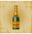 Retro Champagne Bottle vector image