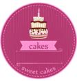 birthday cakes card vector image