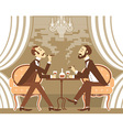 gentlemen in tobacco smoke in club vector image vector image