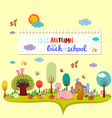 hello autumn and back to school autumn banner vector image