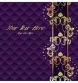Elegant purple Rococo background vector image vector image