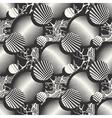 abstract mushrooms ornament vector image
