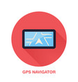 black gps navigator with street map flat style vector image