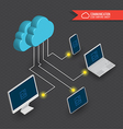 Cloud computing diagram vector image