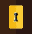 Keyhole in wooden door vector image