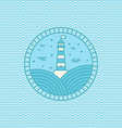 lighthouse logo design template in trendy linear vector image