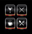 metal plate restaurant theme icon button vector image