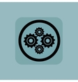 Pale blue cogs sign vector image
