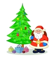 Santa Claus and Christmas tree vector image