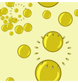 seamless background with bubble blower vector image