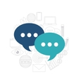 speech bubble communication social media vector image