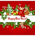 New Year holiday poster design vector image