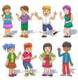 Set of cute cartoon kids vector image vector image