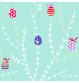branch easter pattern light vector image vector image