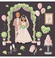 wedding decoration in cream color vector image