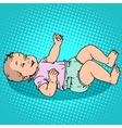 Joyful kid in the diaper vector image