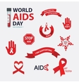 AIDS badges collection set Stop vector image