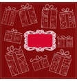 Background with gifts vector image