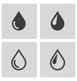 black drop icons set vector image
