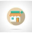 Chemists shop flat color design icon vector image