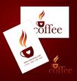 coffee logo card vector image