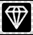 diamond rounded square vector image