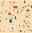 euro trip tourism travel design famous seamless vector image
