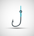 icons fishing hook and line vector image