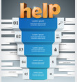 infographics up the ladder to success help stair vector image
