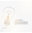 Of Lightbulb Isolated On Gray vector image