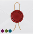 set of wax seals with rope vector image