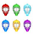 Goalie helmets vector image vector image
