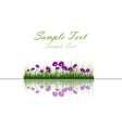 water grass and flower vector image vector image