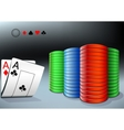 poker chips and two aces vector image vector image