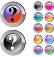 Help multicolor round button vector image