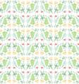 Doodle Leaf Seamless Pattern Background vector image