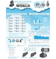 INFOGRAPHIC DEMOGRAPHIC MODERN STYLE 4 vector image