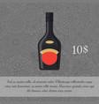 liquor in black bottle card template vector image