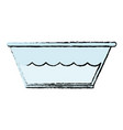 plastic laundry container with water vector image