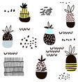 seamless pattern with pineapple modern vector image