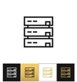 Server or computer data storage icon vector image