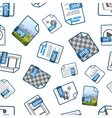 File icons with extensions on white seamless vector image