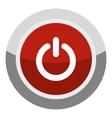 Power button icon cartoon style vector image