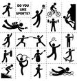 Sport Icon Black vector image