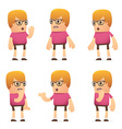 set of dude character in different poses vector image vector image