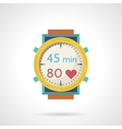 Flat color style icon for diving watch vector image