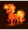 Cartoon little fire horse vector image