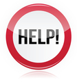 Help - problem glossy red sign vector image