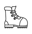 Boot footwear icon design vector image