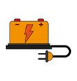 battery cartoon flat vector image
